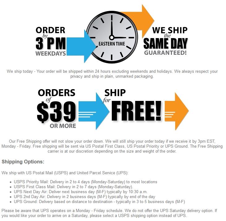 shipping info fast shipping