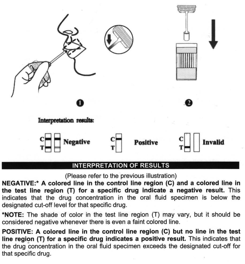 saliva drug test instructions