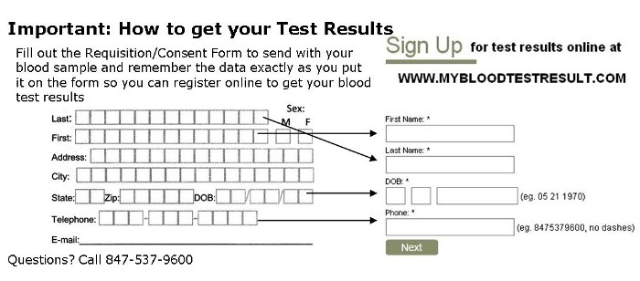 how to get your blood test results