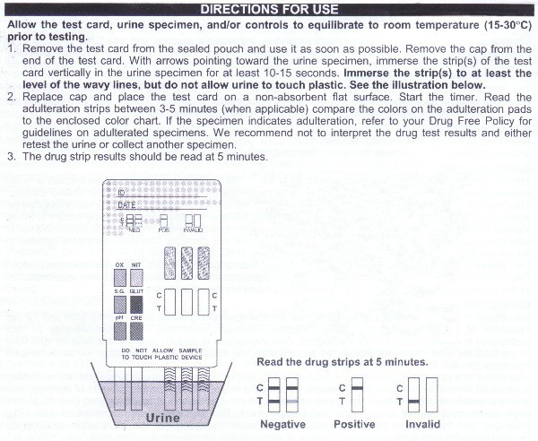 drug test strip instructions