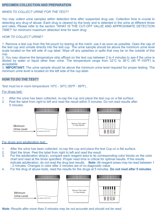 12 Panel T Cup Urine Drug Test